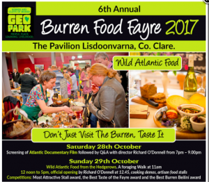 Burren Food Fayre 2017 screen Atlatic